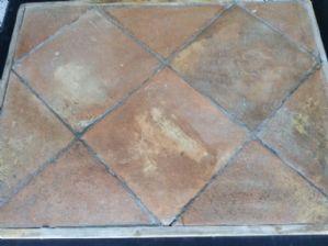 Pavimento in cotto antico 34 x 34 cm