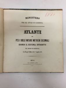 Atlas de poids et mesures métrique décimal, 1844