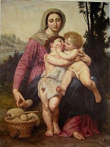 Vierge à l'Enfant et saint Jean dans le paysage