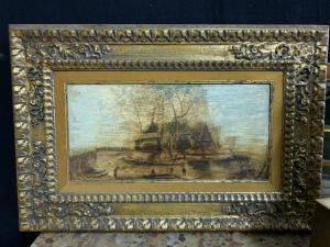Peint sur panneau flamand des années 1800