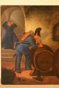 ACTUEL ET AUSTRIAN PEINTURE À L'HUILE PREMIÈRE PEINTURE - signée et datée 1842 - ALT.34,5CN LARG.27CM