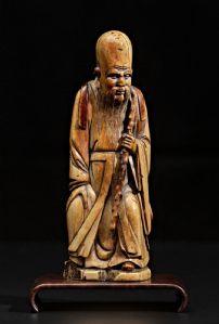 Intéressant dynastie Ming Shou - Lao en ivoire sculpté
