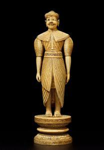 Des personnages importants de haute taille dignitaire, Ceylan, royaume de Kandy, environ 1700