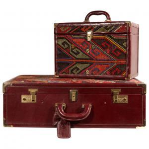 Valise et trousse de beauté avec Kilim, modèle Vuitton