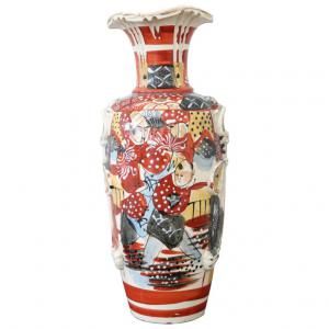 Vase satsuma ancien peint à la main au Japon en céramique peint à la main PRIX NEGOCIABLE