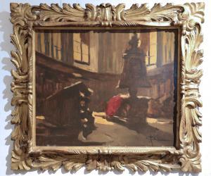 Cattaneo Achille (Milan 1872-1931) - Intérieur d'église