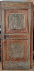 Porte ombrienne peinte début XVIIIe siècle