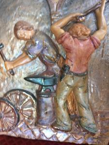 Bas-relief en céramique Bottega Gatti