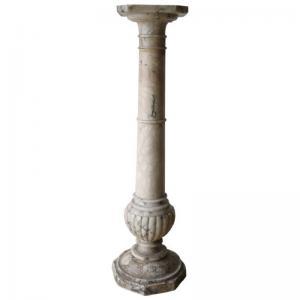 Colonne antique en marbre jaune mid sec. XIX PRIX NÉGOCIABLE