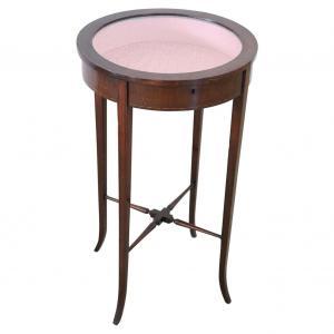 Tavolino a bacheca in noce inizi secolo XX PREZZO TRATTABILE