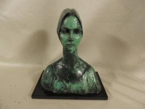 bronze laqué, 'Irene' de Francesco Messina, cm h 23