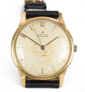 Montre-bracelet automatique pour pare-chocs Zenith en or, années 50