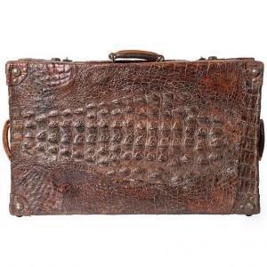 Ancienne Valise Crocodile