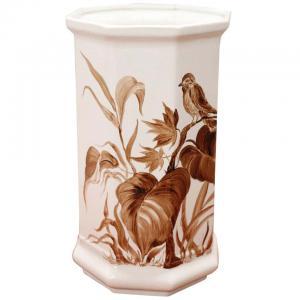 Vase en céramique artistique peint à la main vers 1980