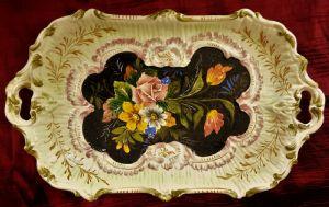 Plateau en céramique italienne peints à la main