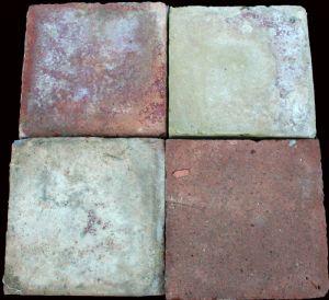 tuiles briques anciennes. 16x16 cm. Epoca 1800.