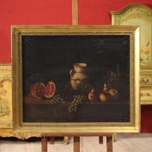 Tableau espagnol nature morte huile sur toile