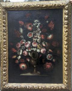 """paire de tableaux """"nature morte-vase de fleurs"""""""