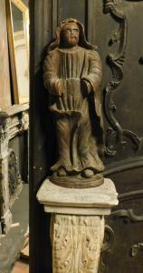 dars374 - figurine en bois, cm l 27 xh 75
