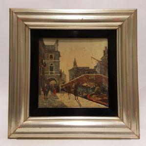 """Peinture par Filiberto Vitaliano Rossi """"Canal Vena, Chioggia"""" Venezia"""