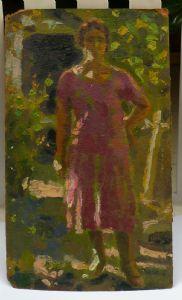 Carlo Corsi. « Figure dans le jardin. »