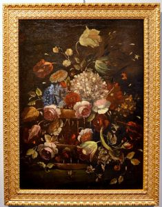 Nature morte avec pot de fleur.