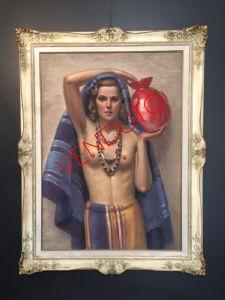 Peinture, nu d'une femme par Giacomo Gabbiani