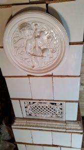 Poêle à l'ancienne meissen blanc, 19ème siècle.