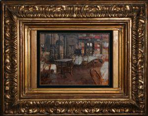 Intérieur du Caffè Vacca - Antonio mancini 1880