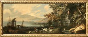 paysage avec bergers et troupeaux