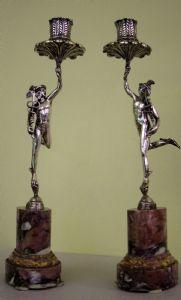 """Paire de chandeliers d'argent """"Mercury"""""""
