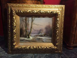 dipinto olio su tela cm 39 x 53