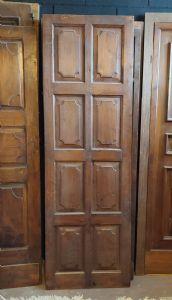 pti690 - porte double face en noyer, du centre, XVIIIe siècle, dimensions cm l 67 xh 208 x ép. 3