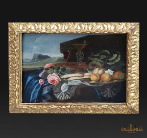 Peinture ancienne nature morte Maxilian Pfeiler