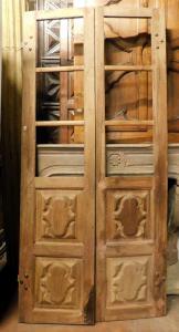 pti691 - porte à deux battants en noyer, XVIIIe siècle, cm l 104 xh 225