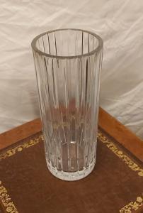 Grand vase à fleurs en cristal de Baccarat