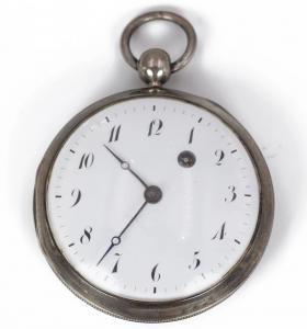 Première montre de poche en argent 800