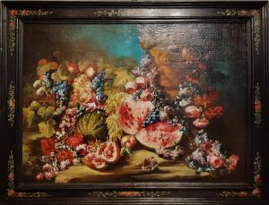 """Abraham Brueghel """"Nature morte aux fleurs et aux fruits"""""""