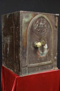 Milners coffre-fort anglais d'origine du milieu du 19e siècle avec clé