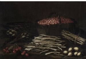 Peinture à l'huile sur toile représentant des natures mortes