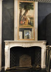 Cheminée en marbre sculpté chm512, italienne, 1700 ans