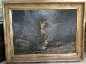 Huile sur toile de Pietro Bouvier,