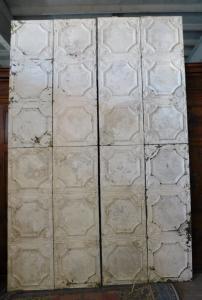 darb170 - plafond colonial en tôle gaufrée, 19ème siècle, 16 m2