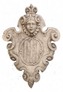 Stemma in Marmo d'Istria - Opera Veneziana - 61 x 40 cm - 19° secolo