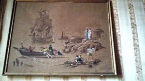 Marina avec des pêcheurs et des navires