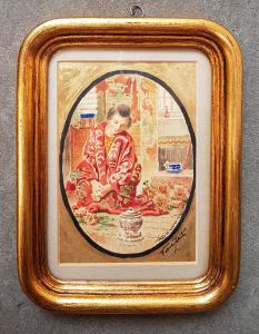 Veress Zoltan - Geisha préparant le thé