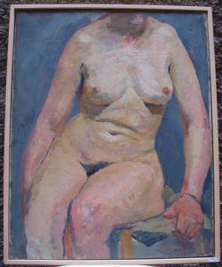 """""""Nudo di donna"""" signé par M.Aimé"""