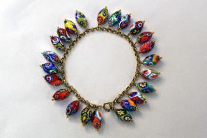 Bracelet avec murrine ovale