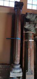 colonnes en bois