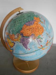 Carte du monde des années 50